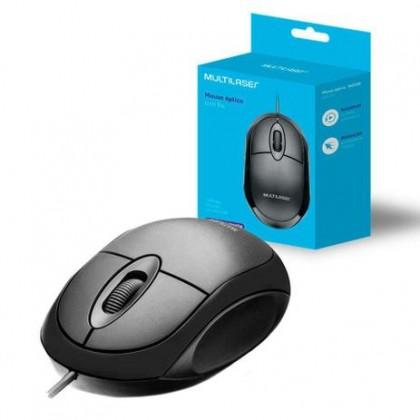 Mouse Classic Box Óptico Full Black USB MO300 Multilaser
