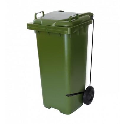 Cesto de Lixo Plástico 120 Lts c/Rodas e Pedal Lateral C120pvd JSN