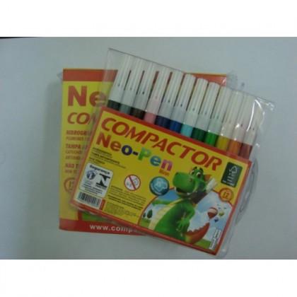 Caneta Hidr. 12 Cores Neo-Pen c/5 Et - Compactor