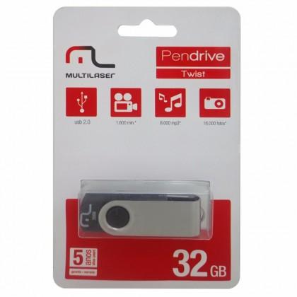 Pen Drive 32 Gb USB Twist 2 Multilaser