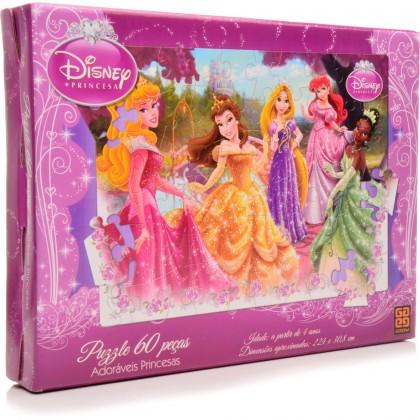 Quebra-Cabeça 60 Pçs Princesas-Adoráveis-Grow