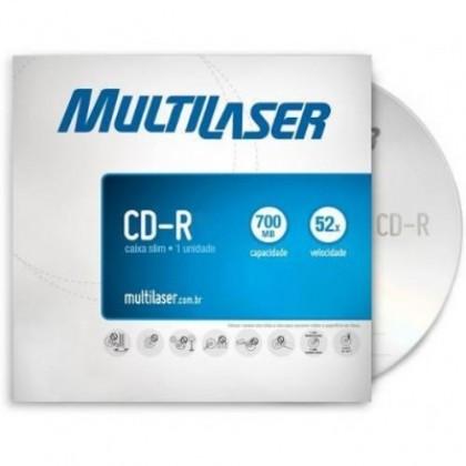 CD-R Gravável Slim (80min/700Mb) 52x Multilaser