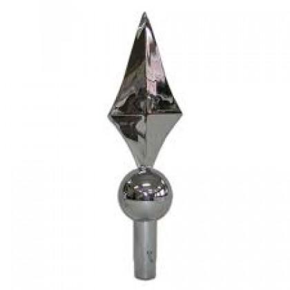 Ponteira Cromada (p/Mastro em Alumínio) - ECA