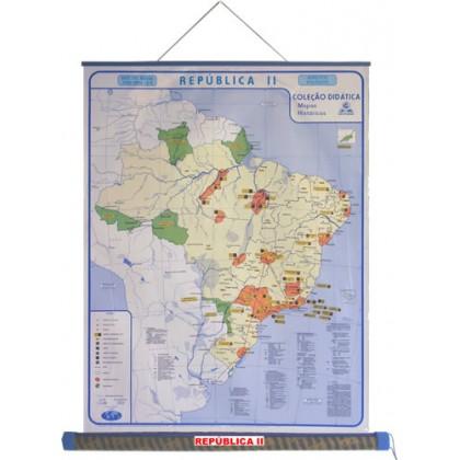 Mapa Laminado HB: Brasil República II - ECA