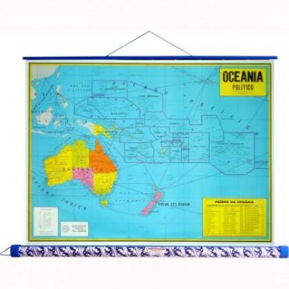 Mapa Laminado: Oceania Político - ECA