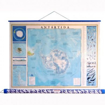 Mapa Laminado: Antártida Físco/Político - ECA
