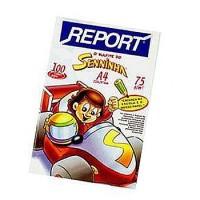 Papel Sulfite 210x297 A4 75g Senninha Bco c/100 Report