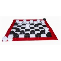 Jogo de Dama de Vinil 1,00x1,00m-F.Educação