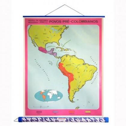 Mapa Laminado H.Moderna: Povos Pré-Colombianos - ECA