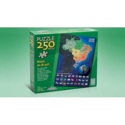Quebra-Cabeça 250 Pçs Mapa do Brasil-Grow
