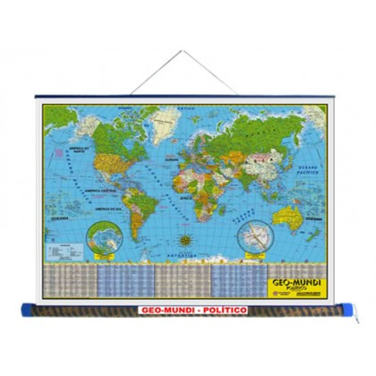 Mapa Laminado: Mundi Político - ECA