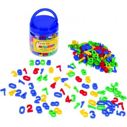 Pote com Números em Plástico c/180 Pçs-BM