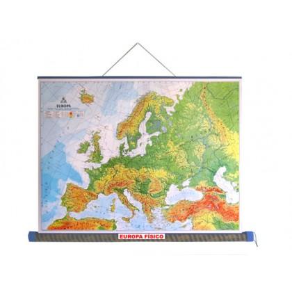 Mapa Laminado Europa: Europa Físico - ECA