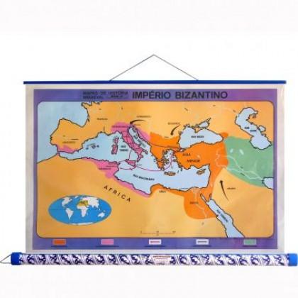 Mapa Laminado H.Medieval: Império Bizantino - ECA