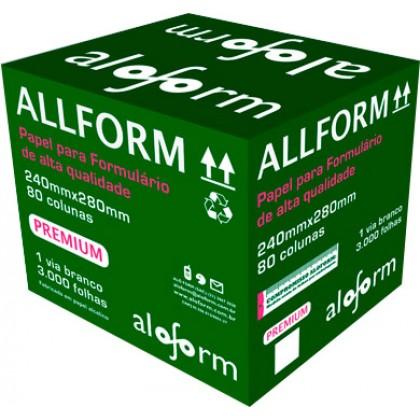 Formulário Contínuo Bco 80col. 1via 240x280mm c/3000-Aloform