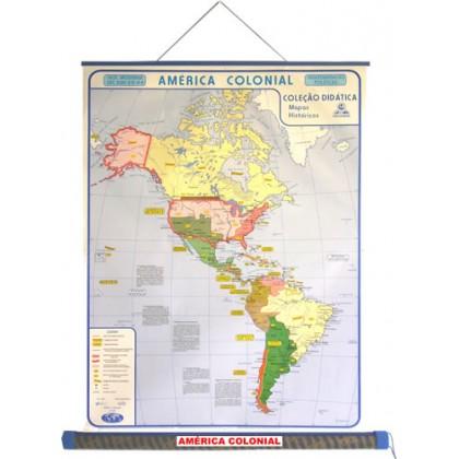Mapa Laminado H.Moderna: América Colonial - ECA