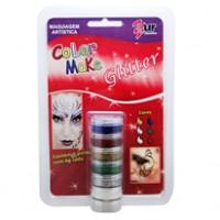 Pintando a Cara Glitter Cremoso 6 Cores-Yur