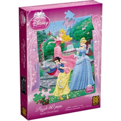 Quebra-Cabeça 60 Pçs Princesas-Jardim Encantado-Grow