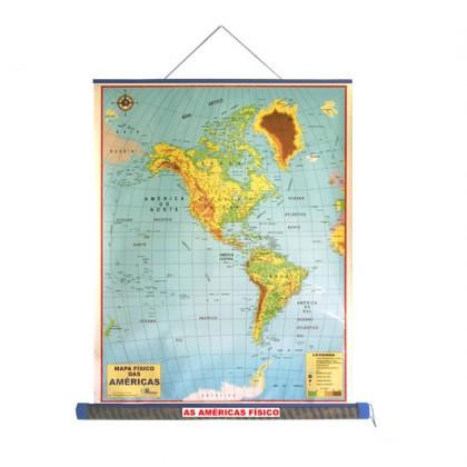 Mapa Laminado As Américas: As Américas Físico - ECA