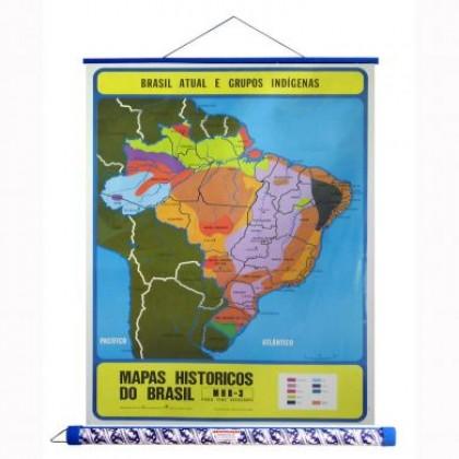 Mapa Laminado HB: Brasil Atual e Grupos Indígenas - ECA