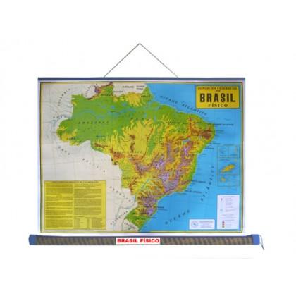 Mapa Laminado: Brasil Físico - ECA