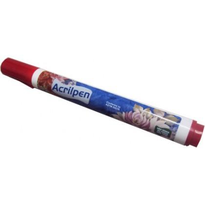 Caneta p/Tecido Vermelho Acrilpen - Acrilex