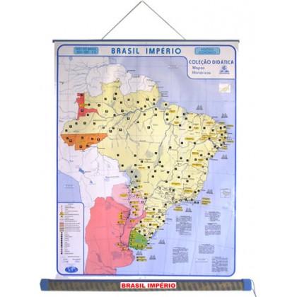 Mapa Laminado HB: Brasil Império - ECA