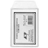 Carteirinha Transparente c/Aba 70x105mm c/100-ACP