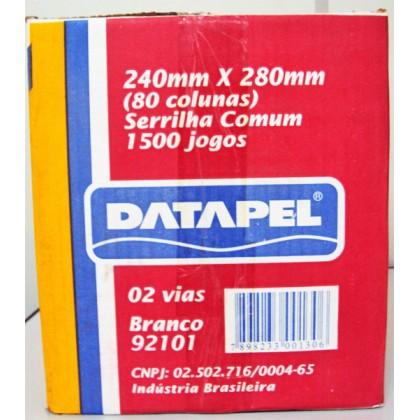 Formulário Cont.Bco 80col. 2vias 240x280mm c/1500-Datapel