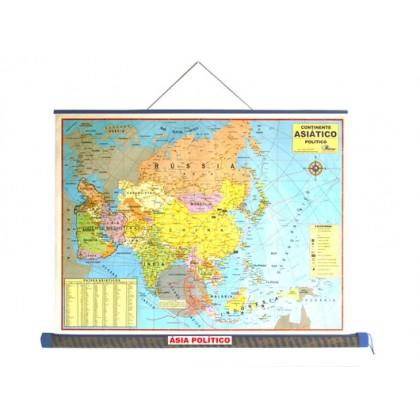Mapa Laminado Ásia: Ásia Político - ECA