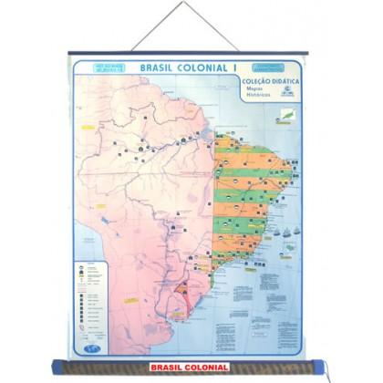 Mapa Laminado HB: Brasil Colônia I - ECA
