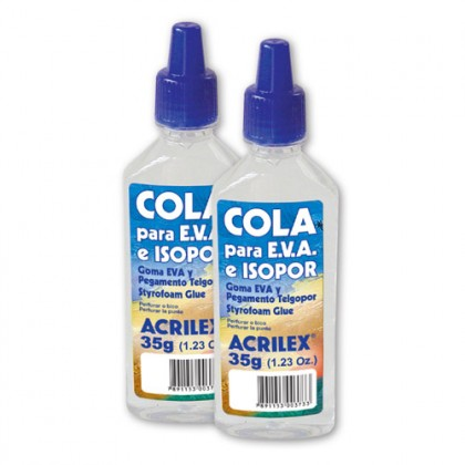 Cola p/EVA e Isopor 90g c/3 Tb - Acrilex