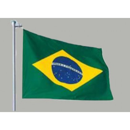 Bandeira Oficial do Brasil Cetim 090x129cm