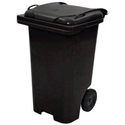 Cesto de Lixo PLástico c/Rodas e Pedal 120 Lts - JSN