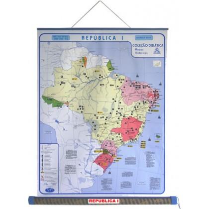 Mapa Laminado HB: Brasil República I - ECA