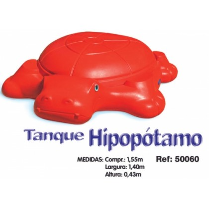 Tanque de Areia/Piscina Big Hipopótamo Mundo Azul