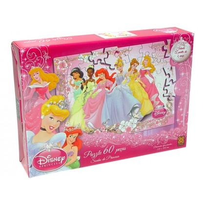 Quebra-Cabeça 60 Pçs Princesas-Elegantes-Grow