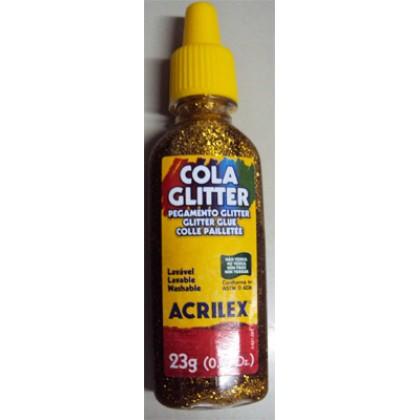 Cola c/Glitter Ouro 23g c/12 - Acrilex