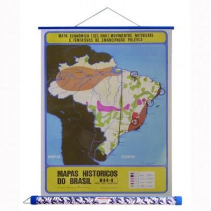 Mapa Laminado HB: Econ.Mov.Nativ/Tent.Eman.Pol.Séc.XVIII - ECA