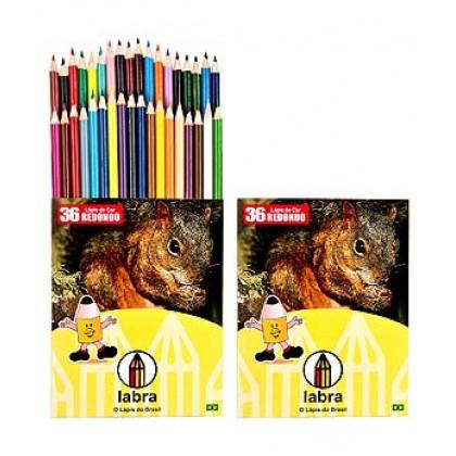 Lápis 36 cores Inteiro c/03 Et - Labra