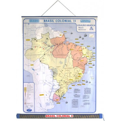 Mapa Laminado HB: Brasil Colônia II - ECA