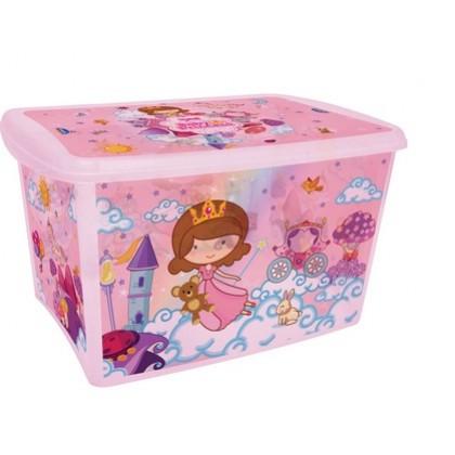 Caixa Organizadora Alta 66 Lts Baby Princess - Plasútil