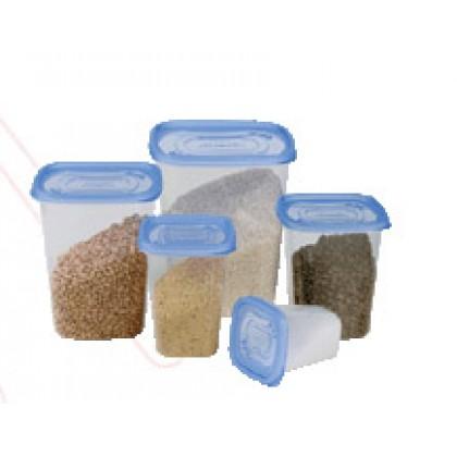 Conj. Clic Pote Mantimentos Plástico c/5 Pçs - Plasútil