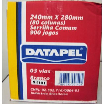 Formulário Cont.Bco 80col. 3vias 240x280mm c/900-Datapel