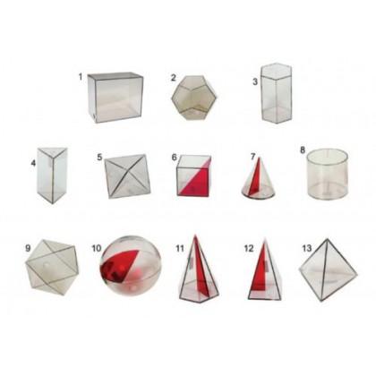 Sólidos Geométricos em Acrílico c/20 Pçs-BM
