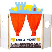 Teatro de Fantoches em Madeira 245x655x20mm c/1 Pç-BM