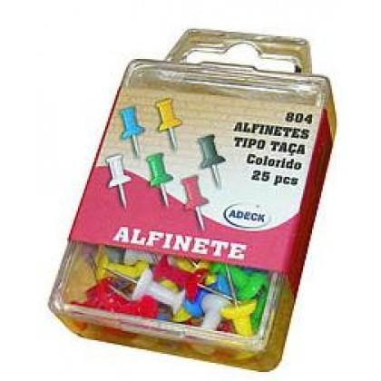 Alfinete Taça p/Fixação c/30 Pçs Coloridas-Cortiarte
