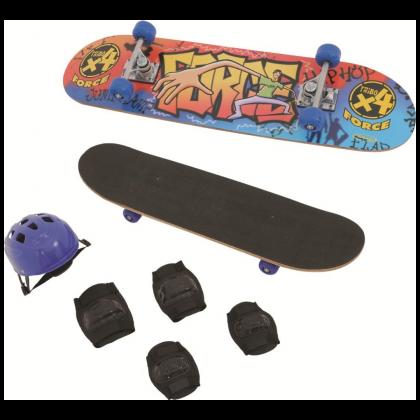 Conj. Skate Force c/Lixa e Acessórios - Xalingo