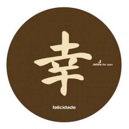 Mouse Pad Ideograma Japonês Felicidade-Jetline