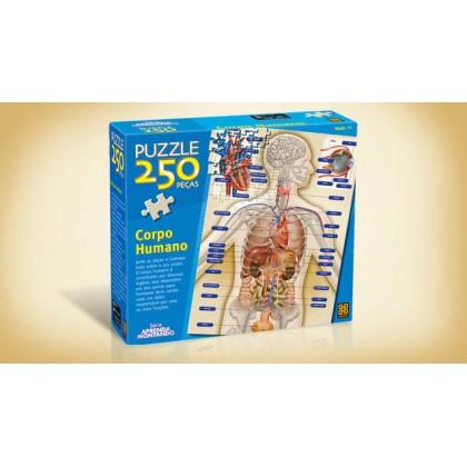 Quebra-Cabeça 250 Pçs Corpo Humano-Grow